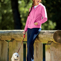 Missy Fit Full Zip Hooded Sweatshirt