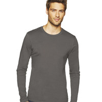 Men's Long-Sleeve Cotton Crew