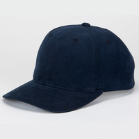 Solid Brushed Cotton Twill Constructed Open Back Cap