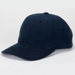 Solid Brushed Cotton Twill Constructed Open Back Cap Thumbnail