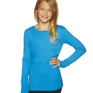 Girl's Princess Long-Sleeve Cotton Tee Thumbnail