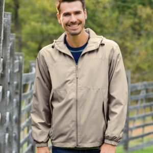 Adult Micro-Polyester Full-Zip Jacket with Hood Thumbnail