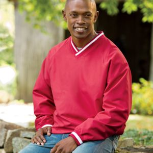 Adult Long-Sleeve Microfiber Cross-Over V-Neck Windshirt Thumbnail