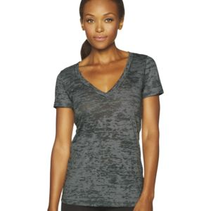 Ladies' Poly/Cotton Burnout Deep V Thumbnail