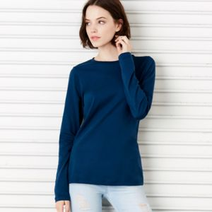 +Canvas Missy Long-Sleeve Crew Neck Jersey Tee Thumbnail