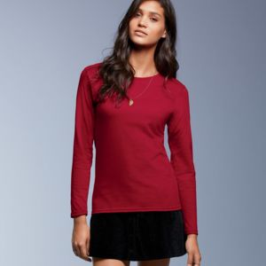 Ladies' Lightweight Long-Sleeve Cotton Tee Thumbnail