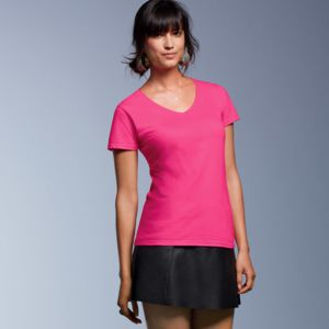 Ladies' Lightweight V-Neck Cotton Tee Thumbnail
